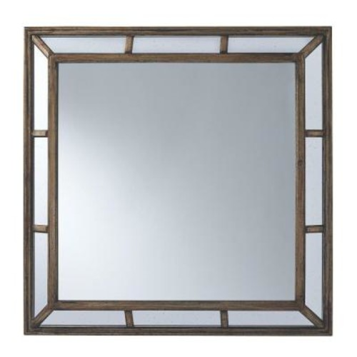 Home Decorators Collection Alexa 39 in. H x 39 in. W Framed Wall Mirror in Antiqued Silver