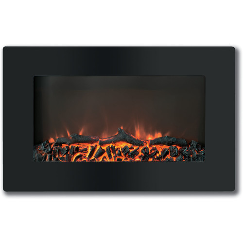 Cambridge Callisto 30 In. Wall-Mount Electronic Fireplace with Flat-Panel and Realistic Logs