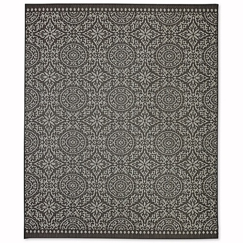 Mohawk Home Oasis Bundoran 8-Foot x 10-Foot Indoor/Outdoor Area Rug in Onyx