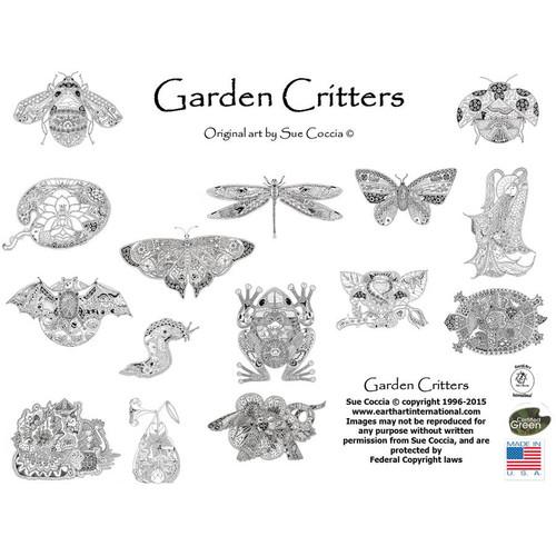 EarthArt Coloring Book Garden Critters