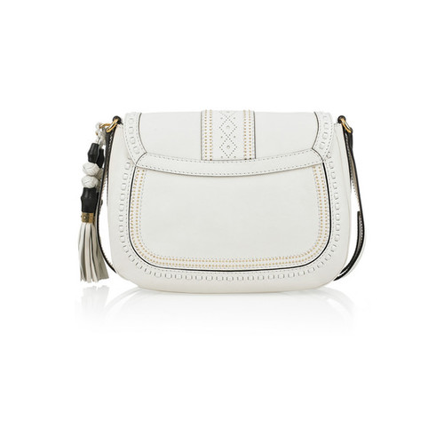 GUCCI Embellished Leather Shoulder Bag