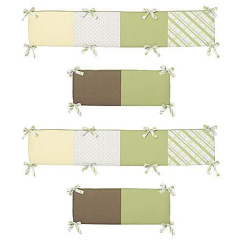 Sweet Jojo Designs Leap Frog Collection Crib Bumper