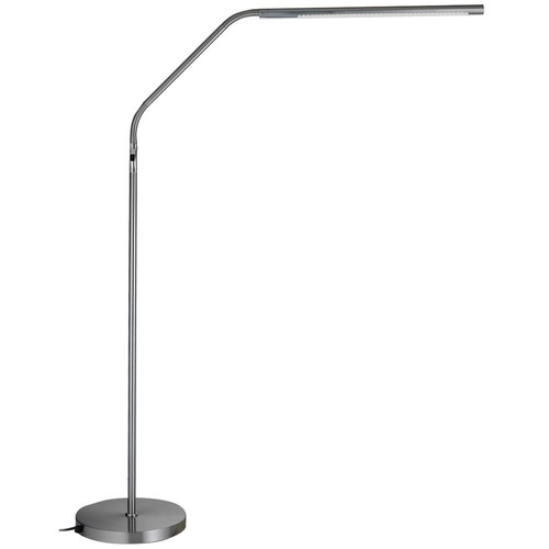 DAYLIGHT Slimline LED Floor Lamp Brushed Chrome