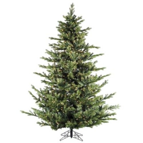 Fraser Hill Farm 12-Foot Foxtail Pine Pre-Lit Artificial Christmas Tree with Clear Lights