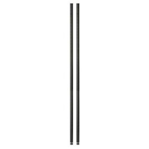 Honey-Can-Do 54 in. Urban Black Shelving Poles (2-Pack)