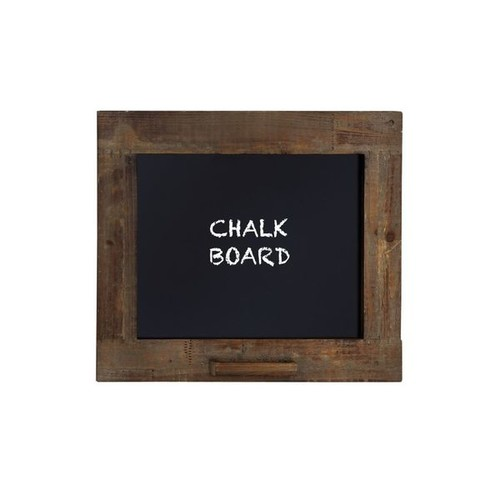 Rustic Walnut Finish Blackboard with Chalk Holder