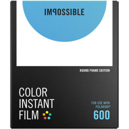 Color Instant Film for 600 (White Round Frame, 8 Exposures)