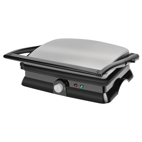 Kalorik 1400-Watt Non-Stick Contact Grill and Panini Maker, Black [Black]