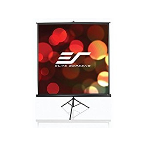 Elite Screens Tripod, 113-inch, Adjustable Multi Aspect Ratio Portable Pull Up Projection Projector Screen, T113NWS1 [1:1, 113-inch, Tripod Series - White]