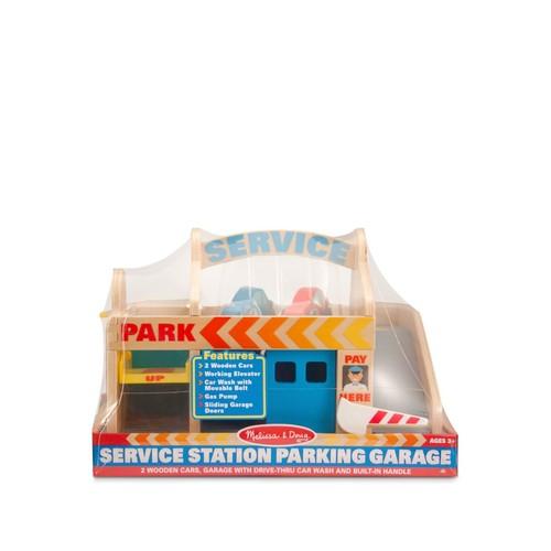 Service Station, Car Wash & Parking Garage Toy Set - Ages 3+
