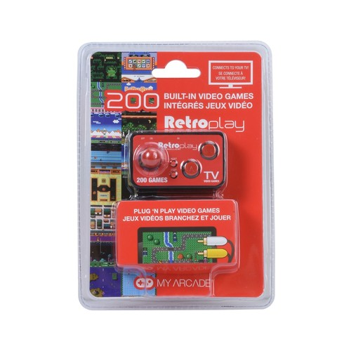RETRO PLAY WITH 200 BUILT-IN GAMES,PORTABLE GAME CONTROLLER CONNECTED TO TV TRUST RCA CABLE