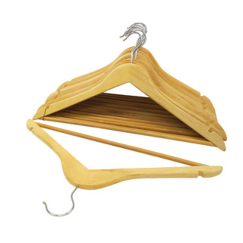 Honey-Can-Do HNG-01531 Bamboo Wood Hangers (5-pack)