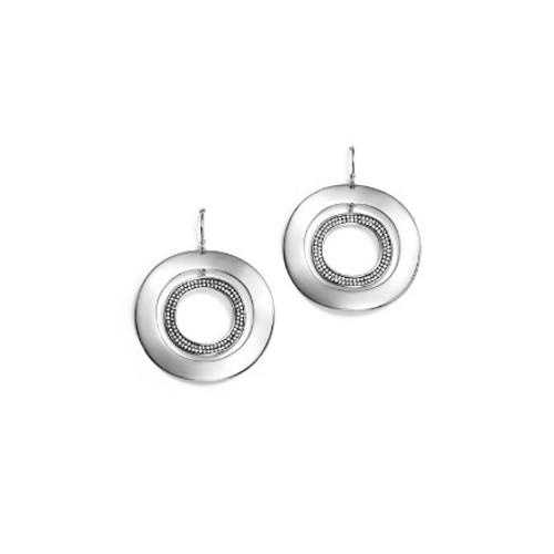 Sterling Silver Glamazon Stardust Open Disc Pav Diamond Drop Earrings - 100% Exclusive