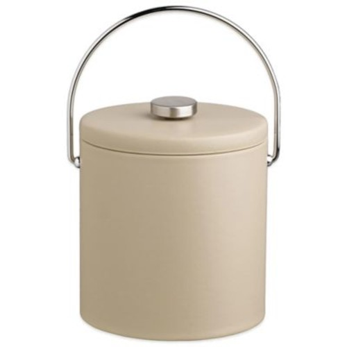 Kraftware Contempo 3-Quart Ice Bucket in Beige with Fabric Lid
