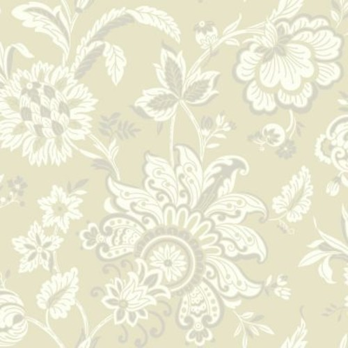 York Wallcoverings Pattern Play 33' x 20.5'' Arabella Wallpaper; Beige / White / Silver