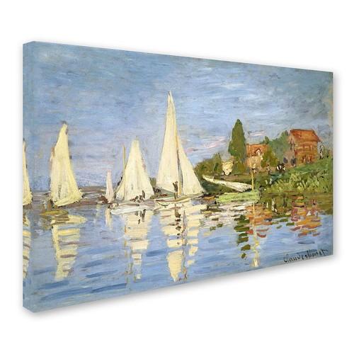 Claude Monet 'Regatta at Argenteuil' Canvas Wall Art 30 x 47