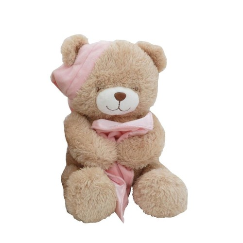 Animal Alley 16-inch Stuffed Sleepy Teddy Bear - Pink