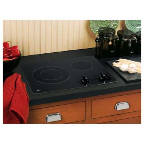 GE JP256BMBB Cooktop - Black on Black
