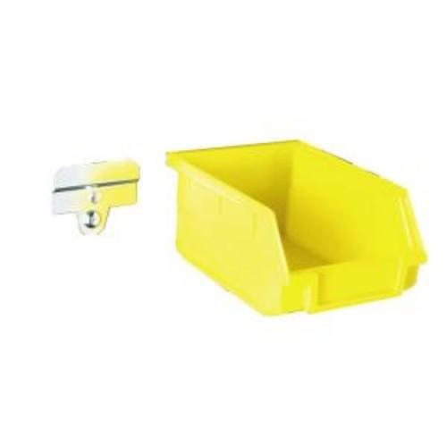 Triton Products LocBin 5-3/8 in. L x 4-1/8 in. W x 3 in. H Yellow Polypropylene Hanging Bin & BinClip Kits, 24 CT