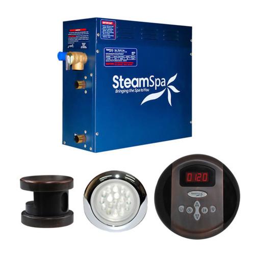 SteamSpa Indulgence 9kw Steam Generator Package in Oil Rubbed Bronze