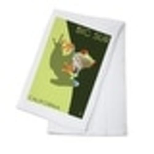 Big Sur, CA - Tree Frog - LP Artwork (100% Cotton Towel Absorbent)
