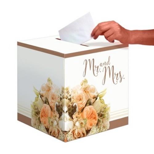 Rose Gold Bouquet Card Box