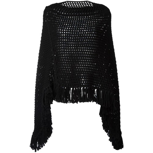 SAINT LAURENT Open Knit Poncho