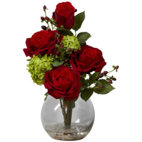 Nearly Natural 14-in Red Silk Arrangement