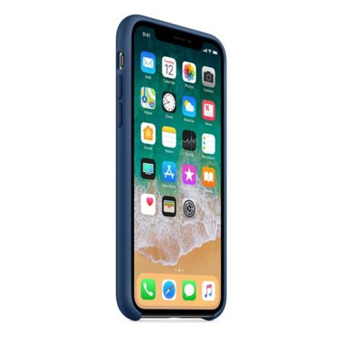 Apple Silicone Case for iPhone X - Blue Cobalt