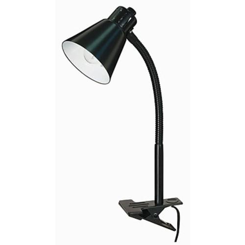 Varick Gallery Racette 1-Light Goose Neck Clip-On 13'' Desk Lamp; Black