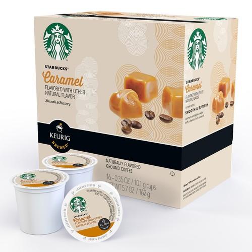 Keurig K-Cup Pod Starbucks Caramel Coffee - 16-pk.