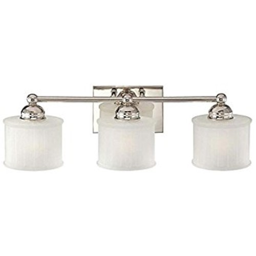 Minka Lavery 6733-1-613, 1730 Series, 3 Light Bath Fixture, Polished Nickel