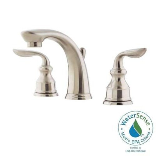 Avalon 8 in Widespread 2-Handle Bathroom Faucet in Brushed Nickel [LF-049-CB0K; Brushed Nickel]