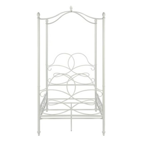 Scrollwork Canopy Bed (Twin) - White - Dorel Home Products