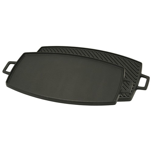 Bayou Classic Black Cast Iron 18-inch Reversible Griddle Grill