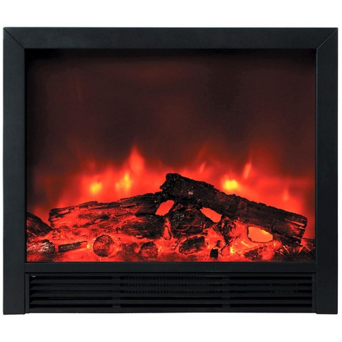 Y Decor Blaze 33 in. Recessed Electric Fireplace in Black