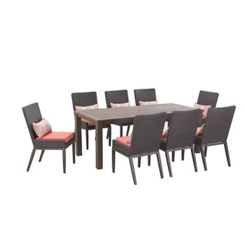 Sunjoy Antigua 9-Pc. Outdoor Dining Set