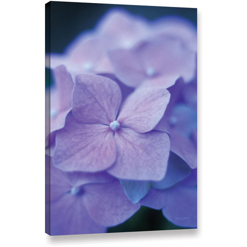 Artwal Blue Hydrangeas Unwrapped Canvas Art by Kathy Yates, 32 x 48 Inch