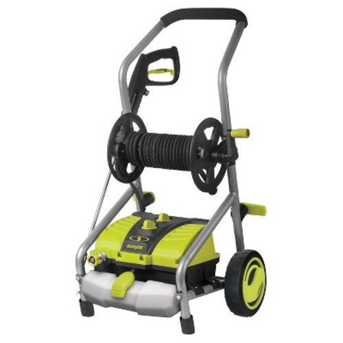 Sun Joe 2031 PSI 1.76 GPM 14.5 AMP, 120 Volts, 1740 Watts Electric Pressure Washer with 20ft Hose Reel - Green