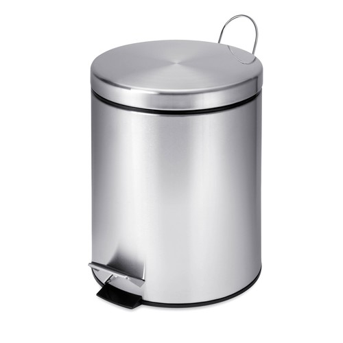 Honey-Can-Do TRS-01449 Round Stainless Steel Step-Lift Lid Garbage Can, 5-Liter [1]