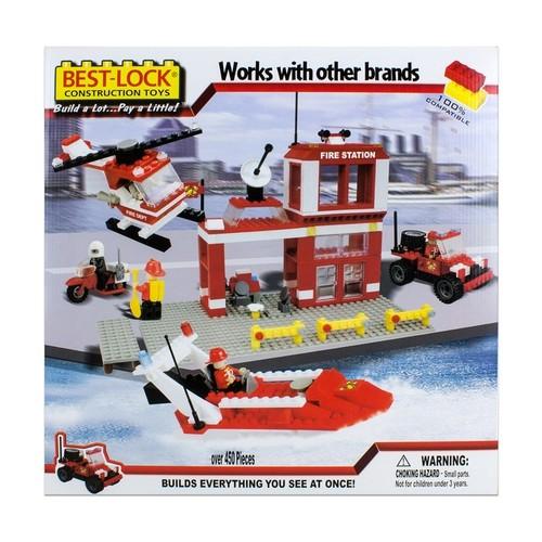 Best-Lock Construction Toys Fire Rescue 450+ pieces!