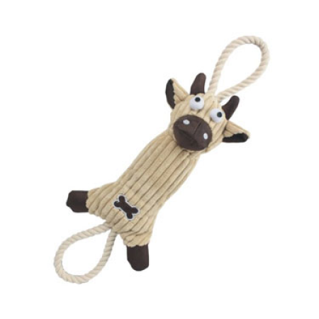 Pet Life Jute and Rope Plush Pet Toy
