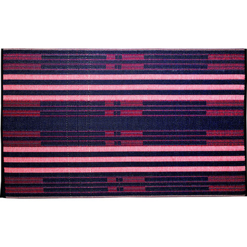 b.b.begonia Brick Lane Reversible Design Blue and Red Outdoor Area Rug (5' x 8')