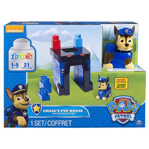 Paw Patrol Ionix Junior Chase's Pup House Building Block Set 21 Pieces