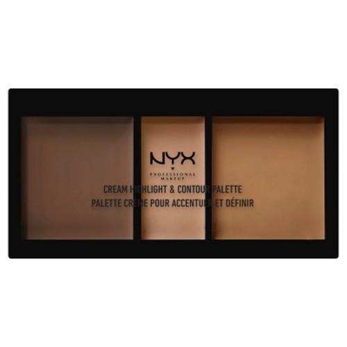 NYX Professional Makeup Cream Highlight & Contour Palette Deep 0.38oz