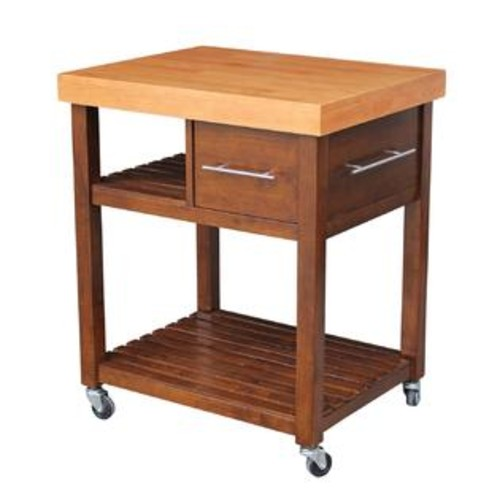 International Concepts WC58-3 Kitchen Work Center with Casters