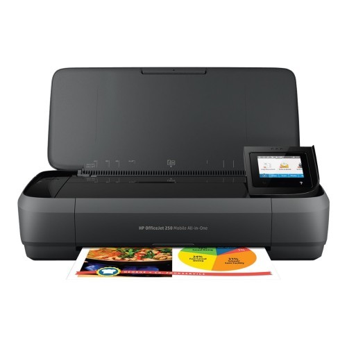 HP Inc. Officejet 250 Mobile All-in-One - Multifunction printer - color - ink-jet - Legal (8.5 in x 14 in) (original) - A4/Legal (media) - up to 18 ppm (copying) - up to 20 ppm