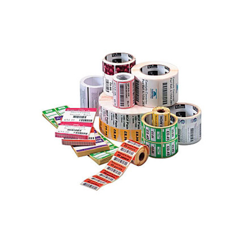 Zebra Z-Select 4000T - Perforated coated ultra-smooth permanent acrylic adhesive paper labels - bright white - 2.25 in x 3 in 5580 label(s) ( 6 roll(s) x 930 ) - for Desktop GX420, GX430; G-Series GC4