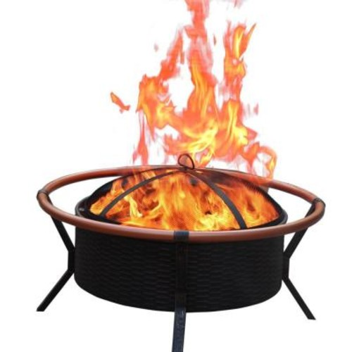 Jeco 34 in. Copper Finish Steel Fire Pit
