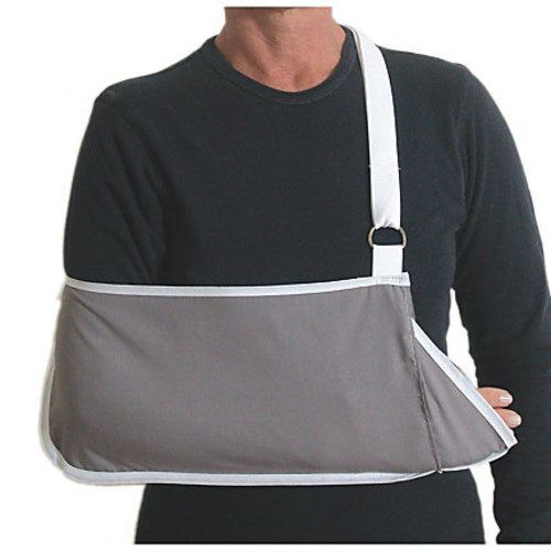 DMI Adjustable Pocket Arm Sling With Wrist Extender, Adult, Gray